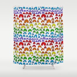 Rainbow Meta Shower Curtain