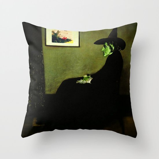 Wizzler's Mother     Wicked Witch Throw Pillow