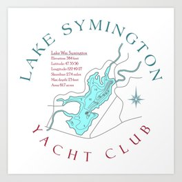 Symington Yacht Club Art Print