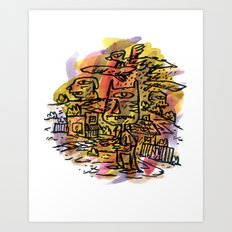 In The Mix Art Print