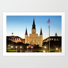 Jackson Square and St Louis Cathedral Art Print