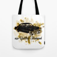 """fleetwood mac Tote Bags featuring 1950 Cadillac Fleetwood """"Caddy"""" by SpecialTees"""