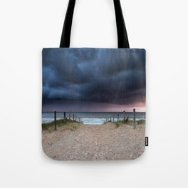 Stormy coast Tote Bag