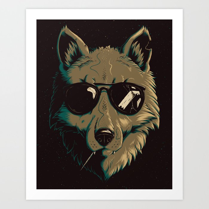 Party Wolf Art Print