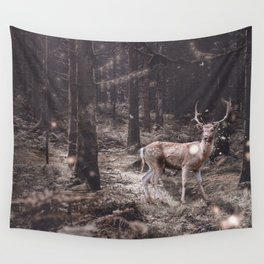 Lucky deer-magic wand in teeth Wall Tapestry