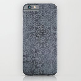 Vintage Modern Kelim Pattern Dark Grey iPhone Case