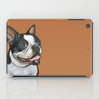 snoopy iPad Cases featuring Snoopy the Boston Terrier by Pawblo Picasso