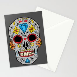 Colorful Skull VIII Stationery Cards