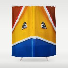 Maltese Boat - Luzzu Colours  Shower Curtain