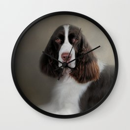 Waiting Patiently - English Springer Spaniel Wall Clock