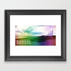 Sunset in DK Framed Art Print