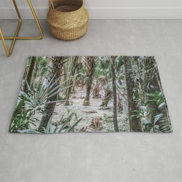 Palm Trees in the Green Swamp Rug
