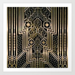 Art Nouveau Metallic design Art Print