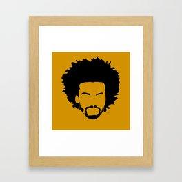 yellow orange Framed Art Print