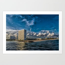 Modern Condos on Fort Lauderdale Beach Art Print