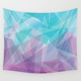 Stained Glass - Blue Purple Wall Tapestry