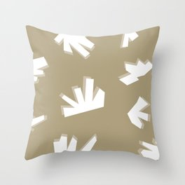 Shape and Color Study: Sand + Rock Throw Pillow