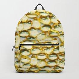 Liquid Softgels Pills Vitamins Art Backpack