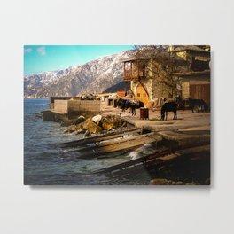 Boat Dock (Arsanas) at St. Anne's Skete, Mount Athos Metal Print
