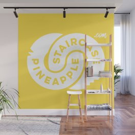 PineappleStaircase | Official Logocolor 2016 in Yellow/White Wall Mural
