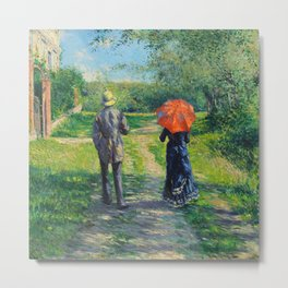 "Gustave Caillebotte ""The Uphill Path"" Metal Print"