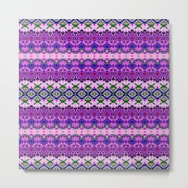 Dainty Purple Banded Lace Metal Print
