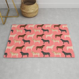 Labrador retriever coats of all colors dog breed pet portraits dogs pets unique pet themed gifts Rug