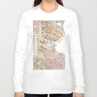 dublin Long Sleeve T-shirts featuring Dublin map by Mapsland