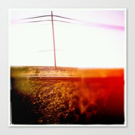 the red pole Canvas Print