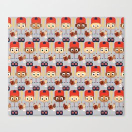 Baseball Orange and Grey - Super cute sports stars Canvas Print