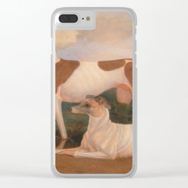 oil paintings of greyhounds Clear iPhone Case