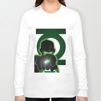 green lantern Long Sleeve T-shirts featuring Green Lantern by Adam Surin Max