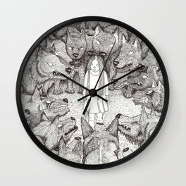 """I will not let her see me like this."" Wall Clock"