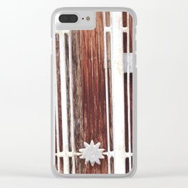 Stars on wood Clear iPhone Case