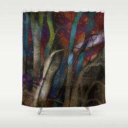 Funky Woods - JUSTART © Shower Curtain
