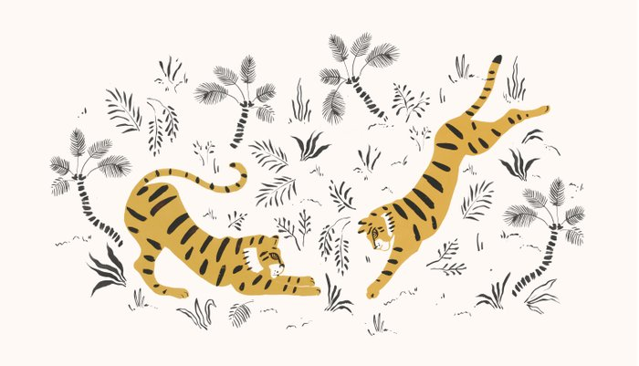 Tiger Dive Pillow Sham
