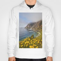 big sur Hoodies featuring Big Sur in Bloom, California 1 by gypsysoulshots