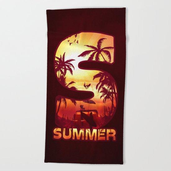 S for Summer Beach Towel