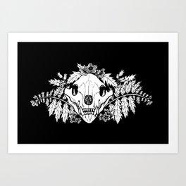 Henbane Bear Skull Art Print