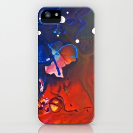 Humo, Vibrant wet on wet abstract, NYC artist iPhone Case