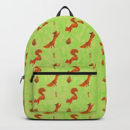 Red Squirrel Pattern Backpack