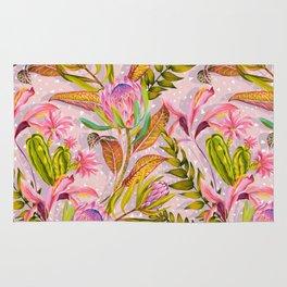 Botanical love pattern Rug