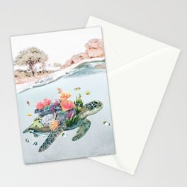 Coral Turtle • Save the Planet Stationery Cards