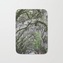 """Youthful Contours"" Tree Tunnel Photo - St. Augustine Fl. Bath Mat"