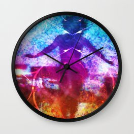"""""""Dancer In Shadows"""" by surrealpete Wall Clock"""