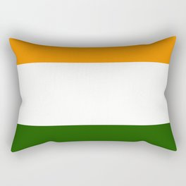 TEAM COLORS 8....GREEN ,ORANGE Rectangular Pillow