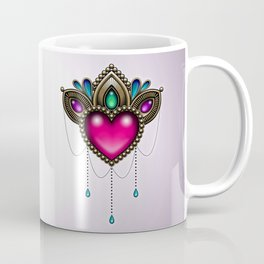 Heart of Stones - Victorian Tattoo Style Gems and Jewels Coffee Mug