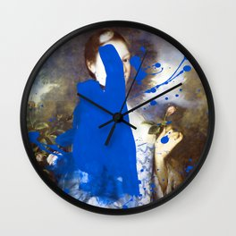 Blue Bomb Wall Clock