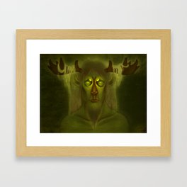 Horned Deity Framed Art Print