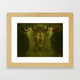 Horned Deity Framed Art Print
